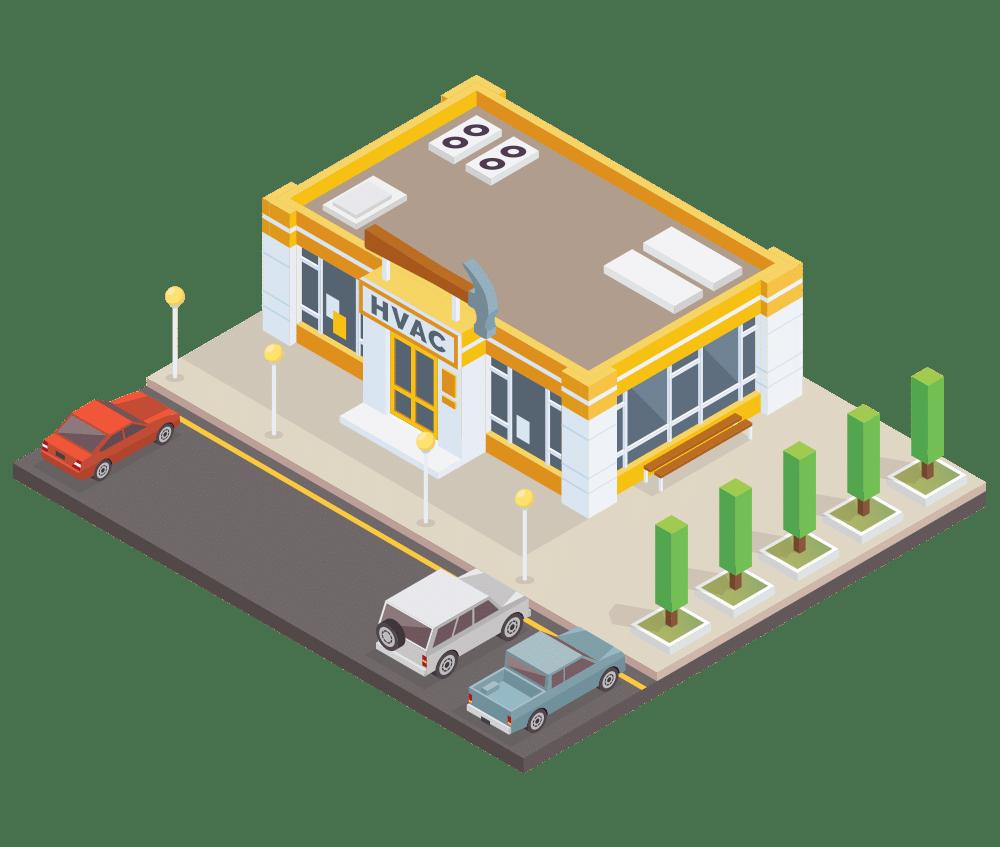 HVAC shop vector image