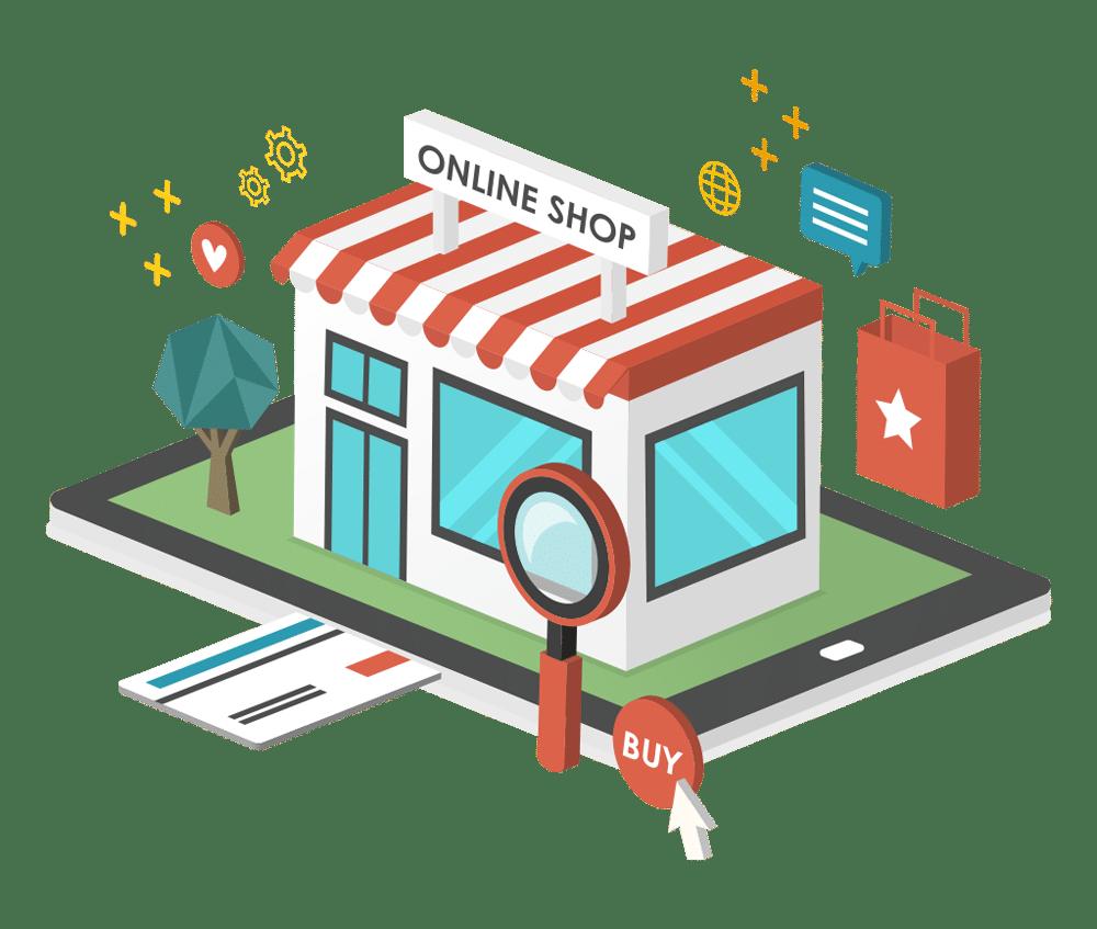 Online shop vector image