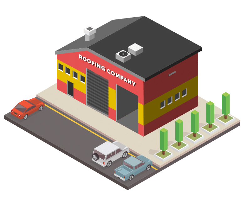 Roofing company building vector image